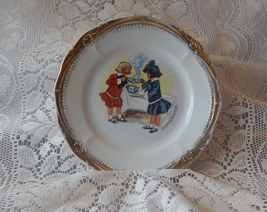Buster Brown 1910 Hand Painted Plate