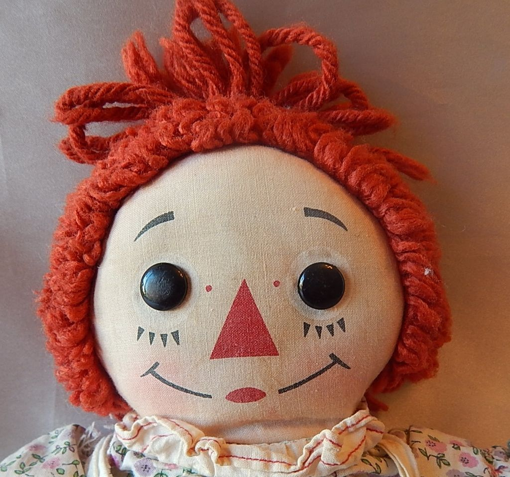 Knickerbocker  Raggedy Ann Cloth Doll