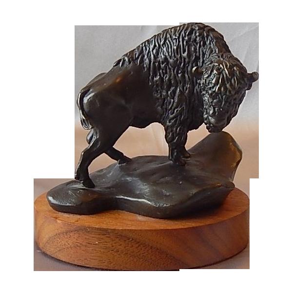 N. Boyles Buffalo Bronze Sculpture