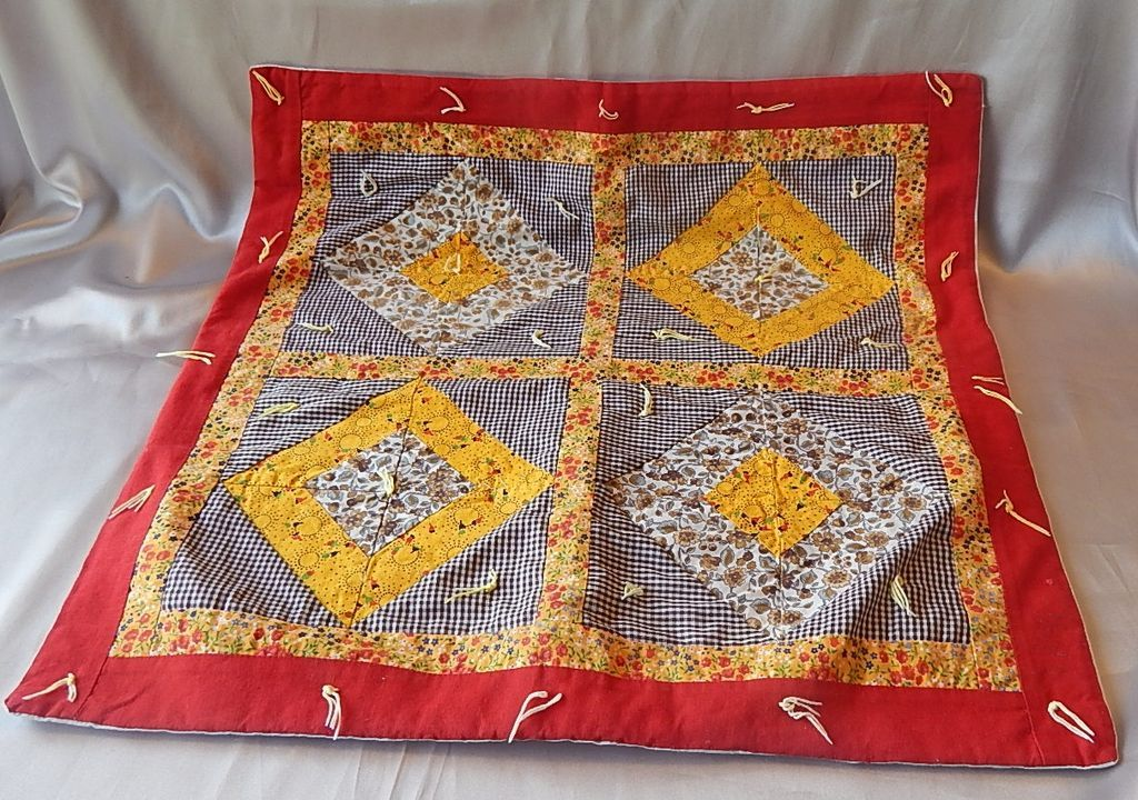Vintage Hand Made  Doll Quilt