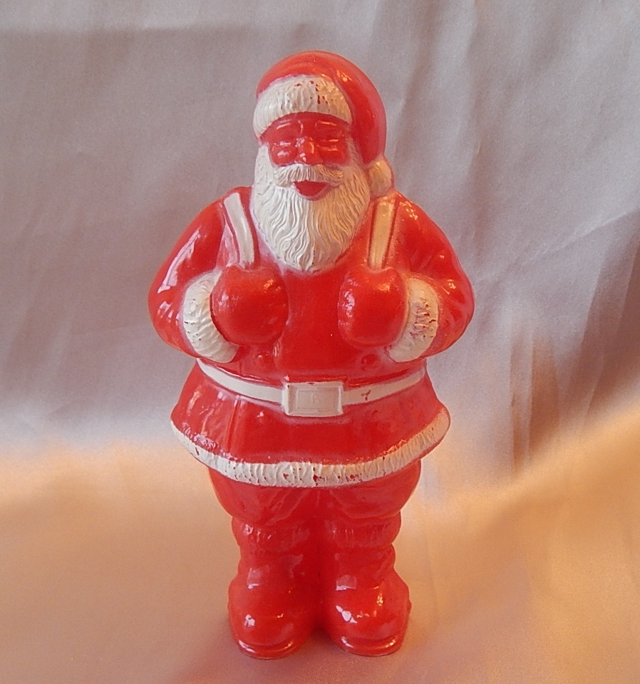 Irwin Santa Claus Plastic Candy Container