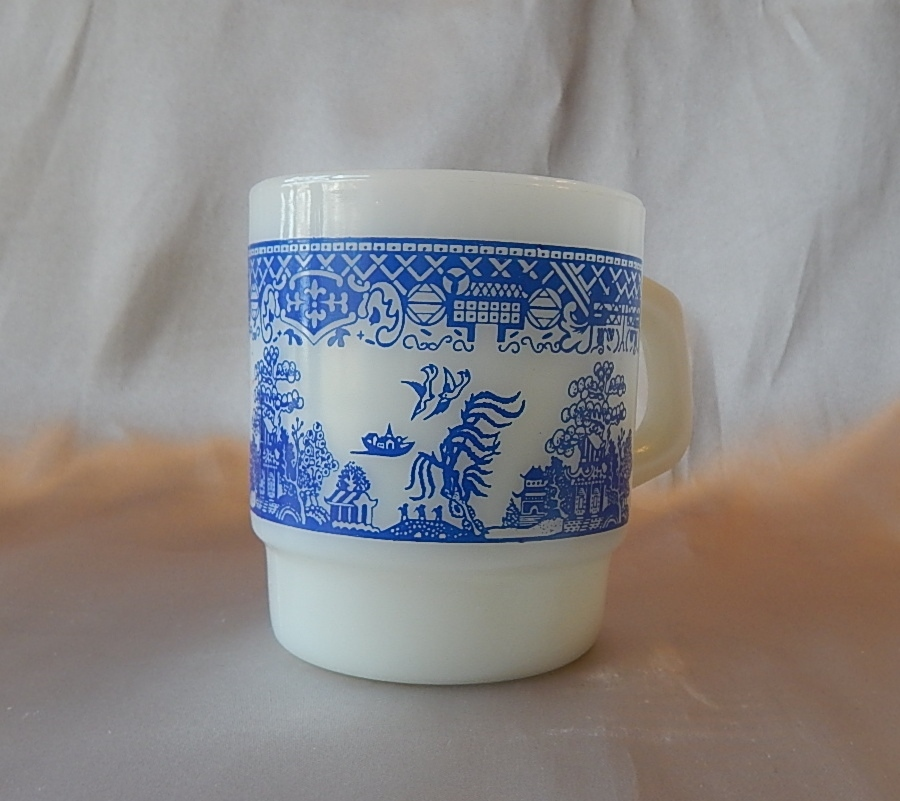 Anchor Hocking Fire King Blue Willow Coffee Mug