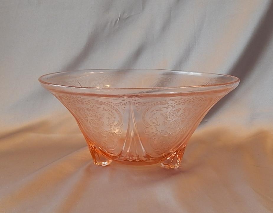 Hazel Atlas Glass Pink Royal Lace Depression Bowl