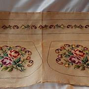 Bucilla Needlepoint Prework Cottage Rose Purse Kit