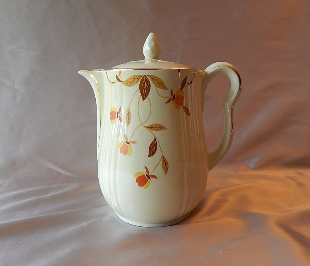 Hall China Autumn Leaf Coffee Pot