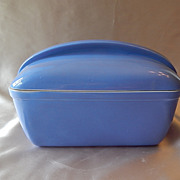 Hall Westinghouse  Blue Covered Casserole  Baker
