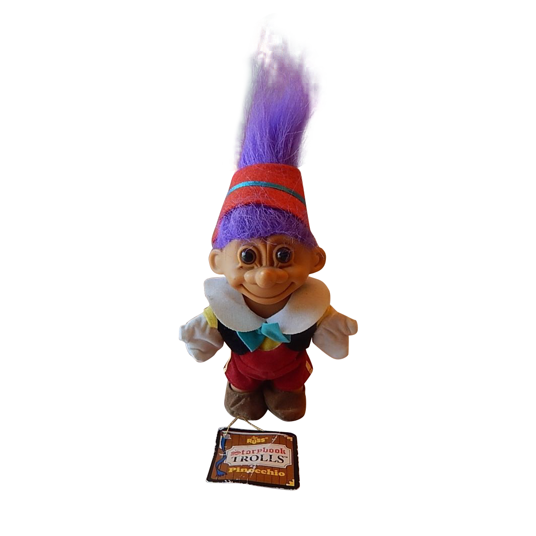 Storybook Pinocchio Troll Doll by Russ