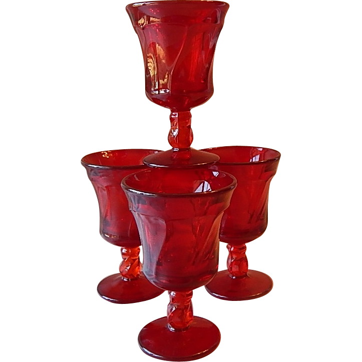 Fostoria Jamestown Ruby Goblets