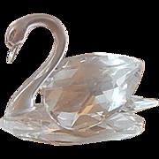 A Swarovski Crystal Swan Figurine