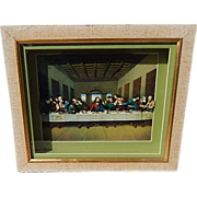Jesus Last Supper Shadow Box 3D Picture