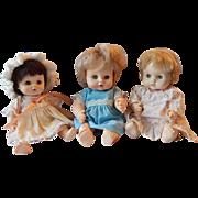 Three Effanbee Vintage Baby Dolls