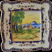Noritake Porcelain  Hand Painted Plate