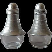 Aluminum & Glass Salt Pepper Shakers