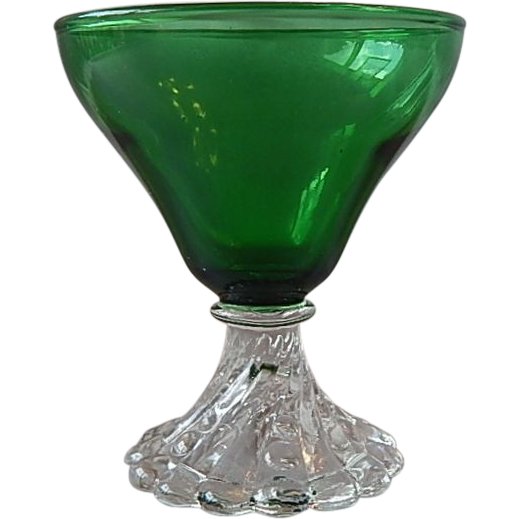 Anchor Hocking Forest Green Liquor Cocktail Glass