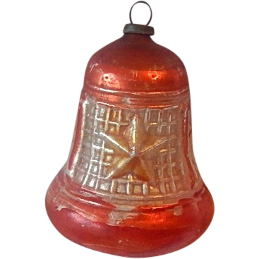 German Glass Christmas  Bell Ornament