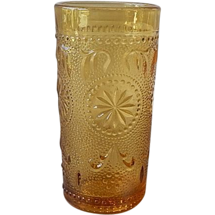 Brockway Glass Amber Concord Juice Glass