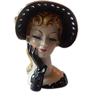 Lady Head Vase by Napco