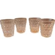 Four Fostoria American Crystal Shot Glasses