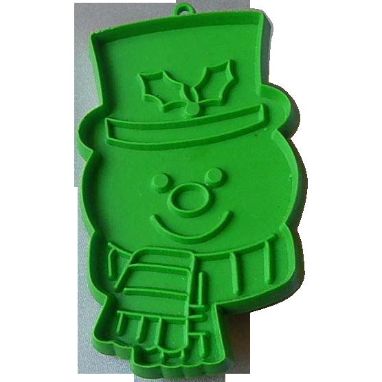 Hallmark Green Snowman Cookie Cutter
