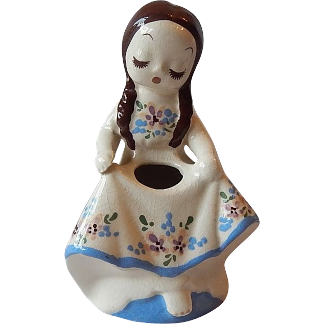 DeLee Art Pottery Nina Figurine Planter
