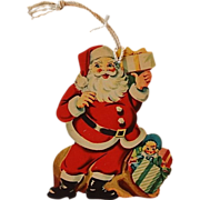 Santa Claus Cardboard Christmas Ornament
