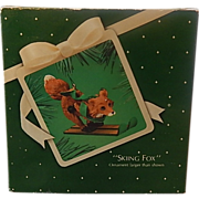 Hallmark Skiing Fox 1983 Christmas Keepsake Ornament