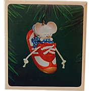 Hallmark 1983 Sneaker Mouse Keepsake Ornament