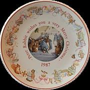 1987 Wedgwood Beatrix Potter Peter Rabbit Plate