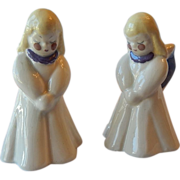 Two Praying Kay Finch Angels Figurines