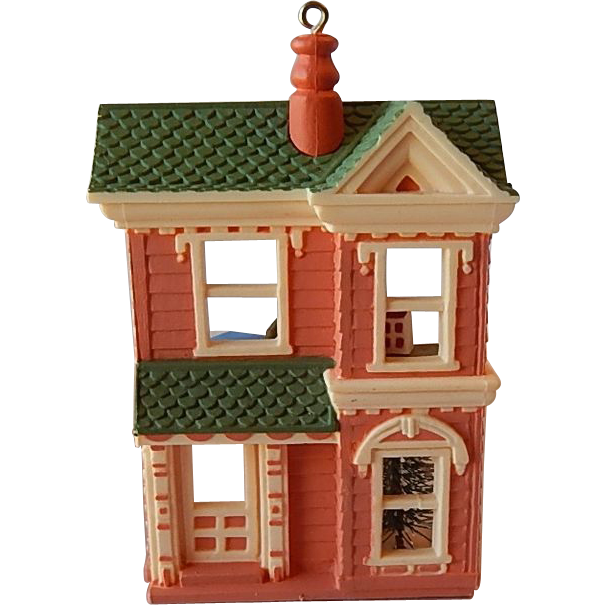 Hallmark Victorian Doll House Ornament 1984
