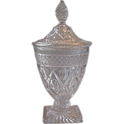 Imperial Crystal Cape Cod Covered Candy Dish