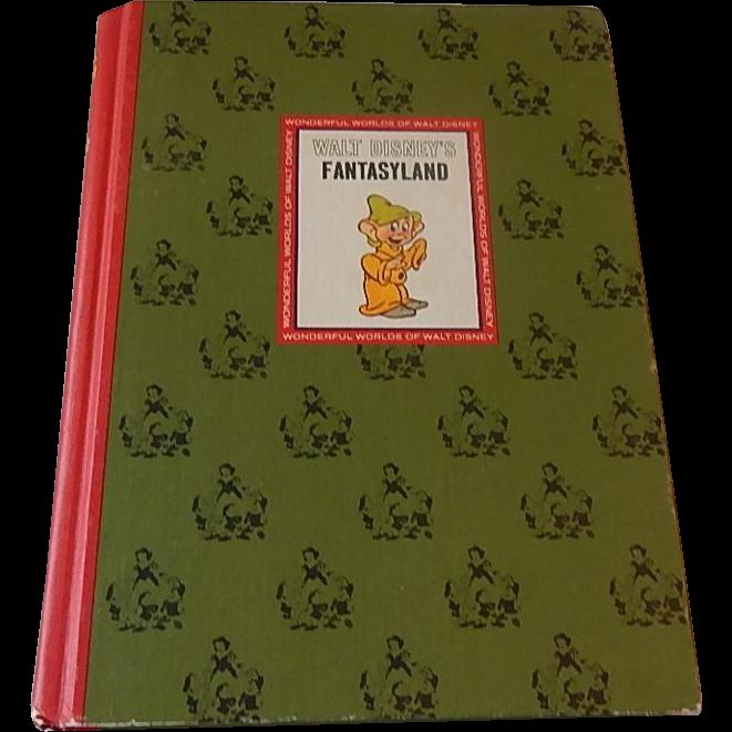 Golden Press Walt Disney's Fantasyland Book