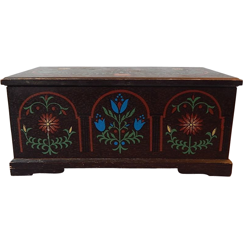 Mele Handpainted Jewelry Box