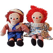 Knickerbocker Toy Raggedy Ann and Andy Dolls