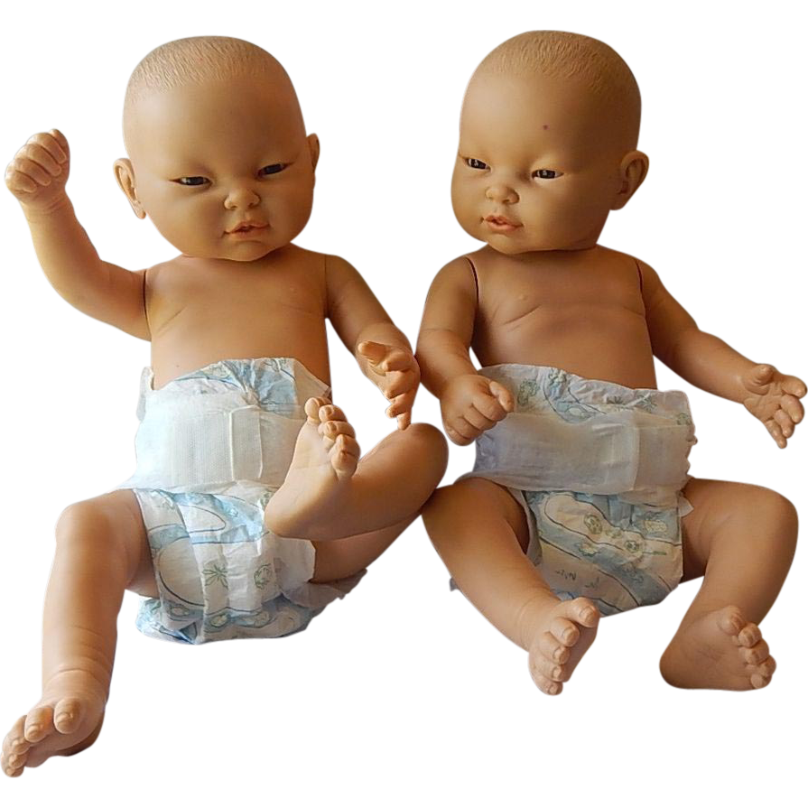 Berjusa Anatomically Correct Twin Baby Dolls Boy And Girl
