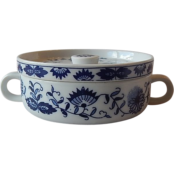 Blue Onion Individual Covered Casserole Dish
