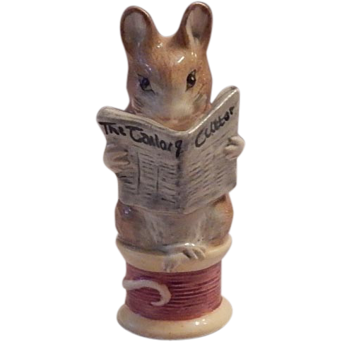 Royal Albert Tailor Gloucester Mouse Figurine