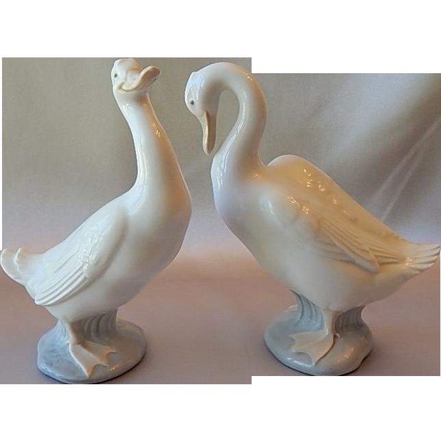 Two Nao Lladro Daisa Duck Figurine