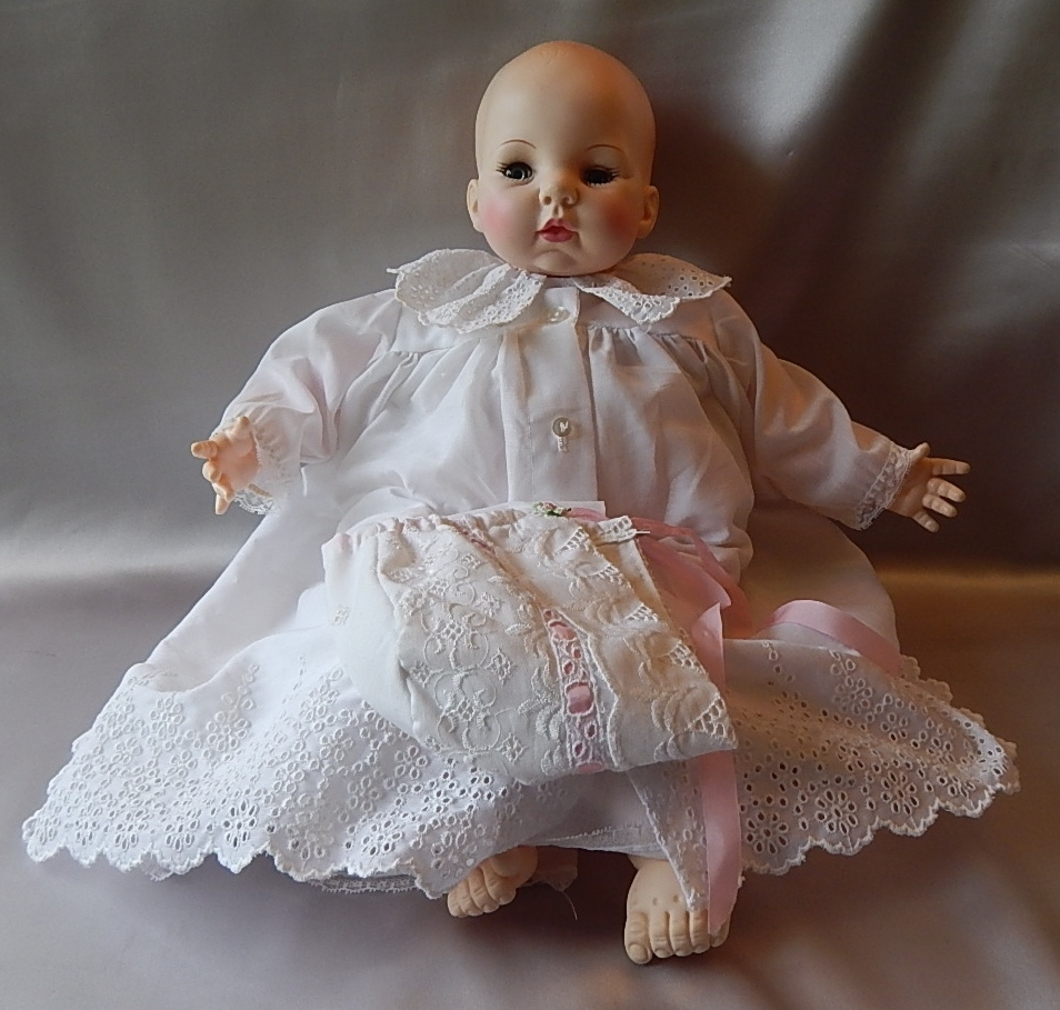 Madame Alexander Victoria Doll Christening Gown Sold On border=