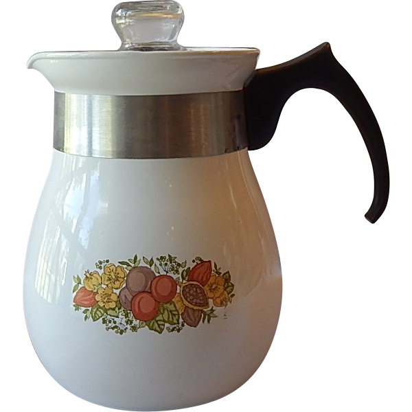 Corning Ware Spice of Life Stove Top Percolator Coffee Pot