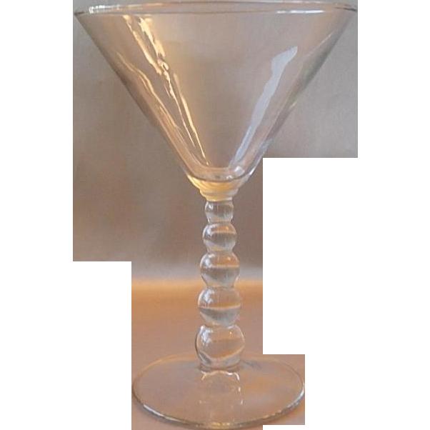 Imperial Glass Candlewick Martini Stem