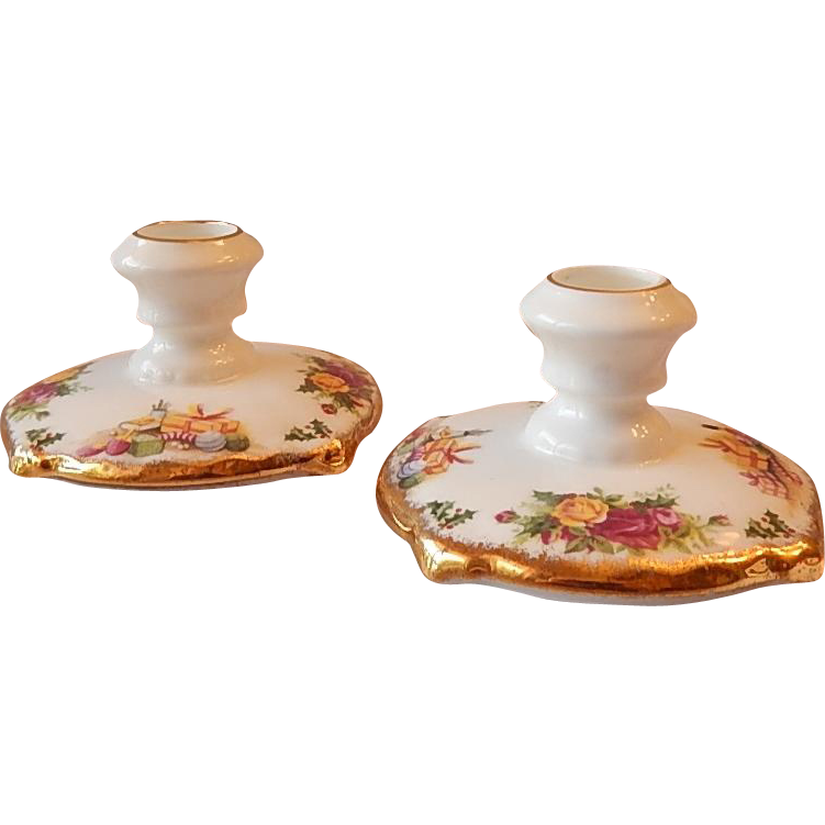 Royal Albert Christmas Magic Candleholders