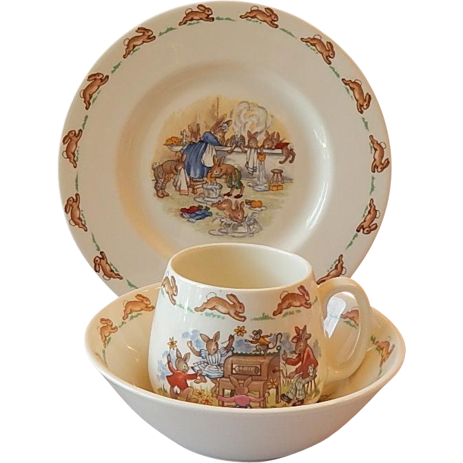 Royal Doulton Bunnykin Plate Bowl Mug