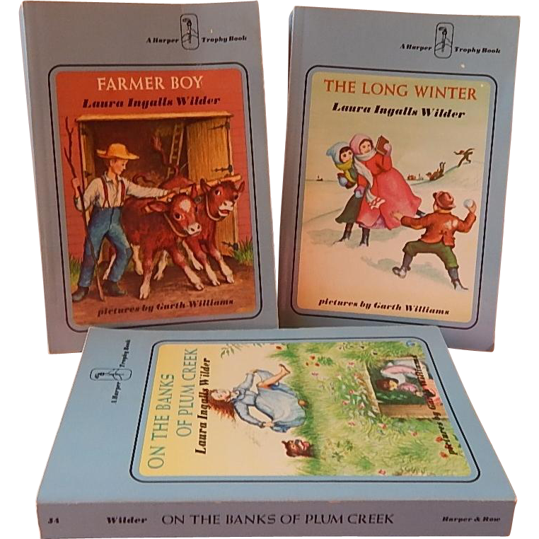 Three Little House Books by Laura Ingalls Wilder