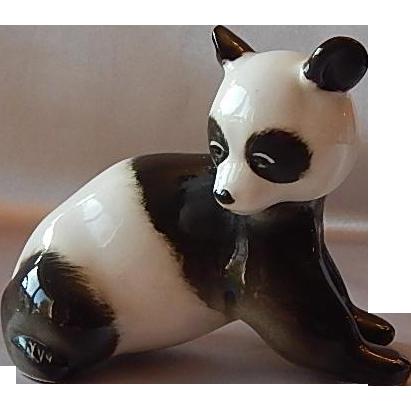 Lomonosov USSR Porcelain Panda Figurine