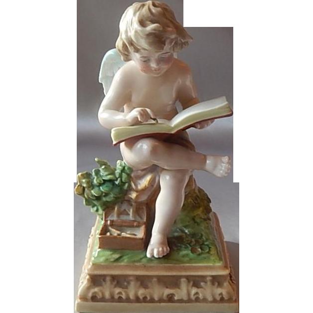 Scheibe Alsbach Cherub Figurine Unmarked