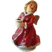 Goebel Christmas Angel Candleholder and Music Box