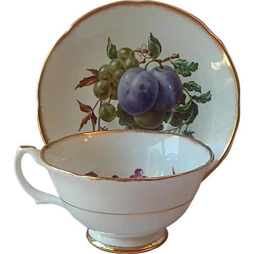 Royal Grafton Tea Cup and Saucer Fruit Design
