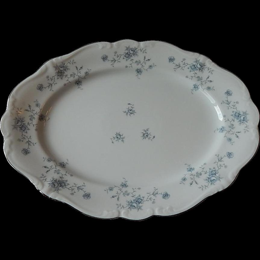 Johann Haviland Bavarian Blue Garland Platter