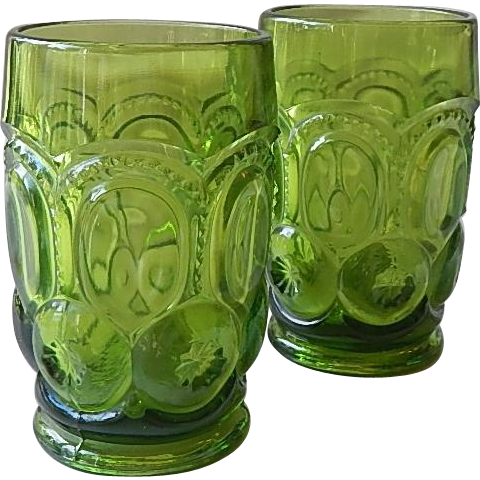 Two Smith Moon & Stars Dark Green Tumblers